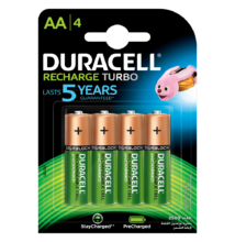 Duracell duralock recharge ultra 2500 mah - aa - 4db / cs
