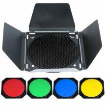 P&V Négyszárnyú fényterelő színezővel és méhsejtráccsal