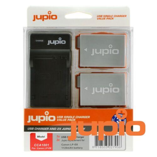 Jupio single charger kit canon lp-e8 1120mah  akkumulátor és usb