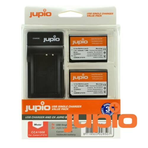 Jupio single charger kit canon lp-e10  akkumulátor és usb