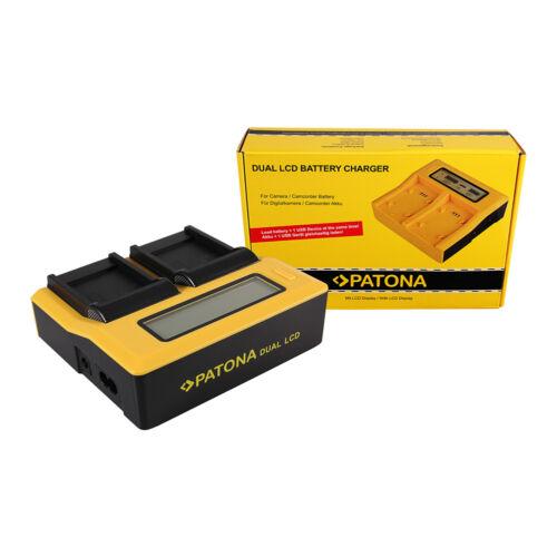 Patona DUPLA LCD USB AKKUMULÁTOR TÖLTŐ SAMSUNG SLB-07A TL TL100 TL210 TL220 TL225 TL90 SLB-07A PL150