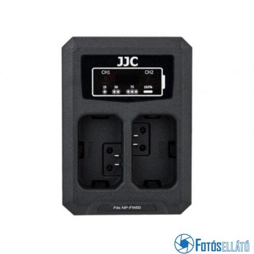 JJC dch-npfw50 usb dupla töltő sony np-fw50-hez
