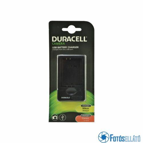Duracell Canon lp-e12 / nikon en-el21 li-ion akkumulátortöltő utángyártott (usb-s)