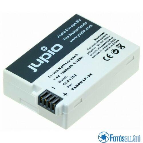Jupio fényképezőgép akkumulátor canon lp-e8 *ultra* 1260 mah