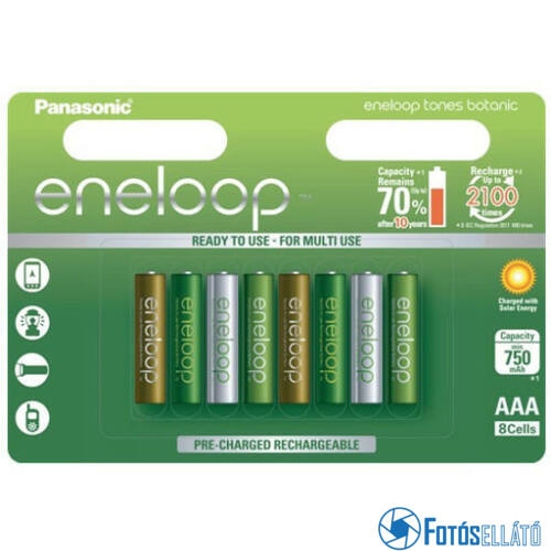 """eneloop BK-4MCCE-8EE BOTANIC """"Limitált kiadás"""" AAA 750mAh akkumulátor"""
