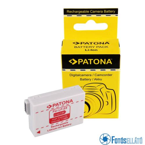 Patona AKKUMULÁTOR CANON LP-E8 LPE8 EOS 550D EOS 600D EOS 550-D EOS 600-D