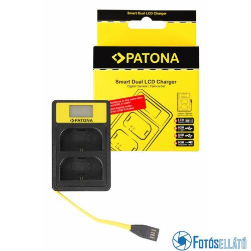 Patona SMART DUPLA LCD USB AKKUMULÁTOR TÖLTŐ CANON LP-E6 EOS 5D 60D 60DA 6D 7D EOS70D EOS-70D LP-E6 MARK II
