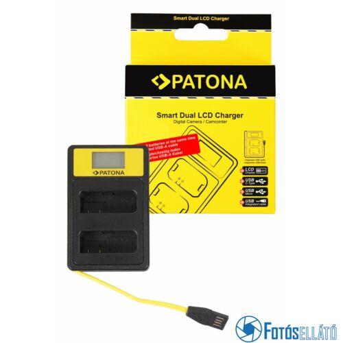 Patona SMART DUPLA LCD USB AKKUMULÁTOR TÖLTŐ NIKON EN-EL14 ENEL14 D3100 D3200 D5100 D5200 D5300 P7000 P7700 P7800