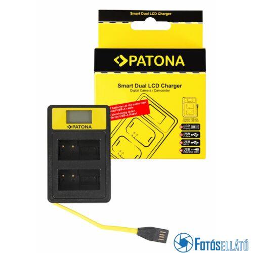 Patona SMART DUPLA LCD USB AKKUMULÁTOR TÖLTŐ PANASONIC MW-BLC12PP V-LUX 4 PANASONIC DMW-BLC12PP