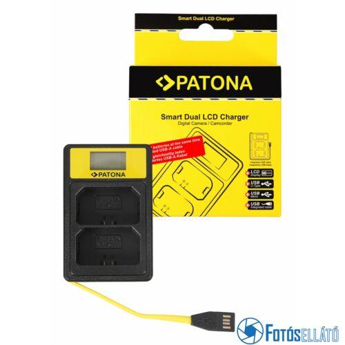 Patona SMART DUPLA LCD USB AKKUMULÁTOR TÖLTŐ SONY NP-FZ100 NPFZ100 A7 III A7M3 ALPHA 7 III A7 R III A7RM3 ALPHA 7 R III A9 ALPHA 9