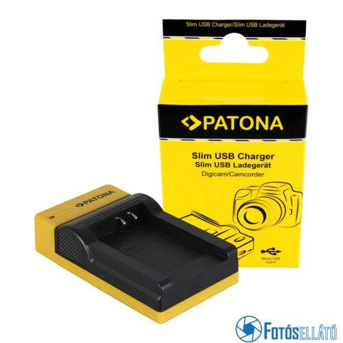 Patona SLIM MICRO-USB AKKUMULÁTOR TÖLTŐ NIKON EN-EL12, COOLPIX AW100, AW1100, S6300, S8000, S9500