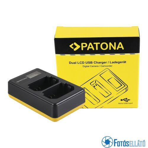 Patona DUPLA LCD USB AKKUMULÁTOR TÖLTŐ SONY NP-FZ100 A7 III A7M3 A7 R III A7RM3 A9 FZ100