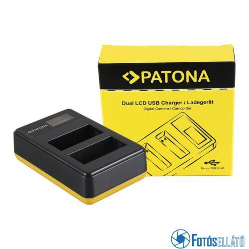 Patona DUPLA LCD USB AKKUMULÁTOR TÖLTŐ FUJIFILM FUJI NP-W126 FINEPIX HS30 EXR HS30EXR HS-30EXR HS33