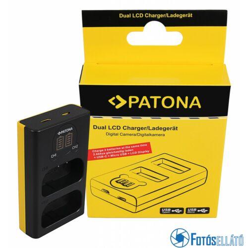 Patona DUPLA LCD USB AKKUMULÁTOR TÖLTŐ PANASONIC DMW-BLJ31 LUMIX DC-S1 DC-S1R DC-S1H