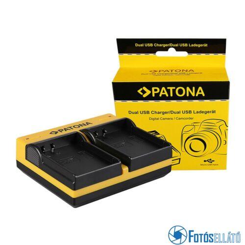 Patona DUPLA AKKUMULÁTOR TÖLTŐ SAMSUNG BP1900 NX1 NX-1 MICRO-USB KÁBELLEL MICRO-USB KÁBELLEL