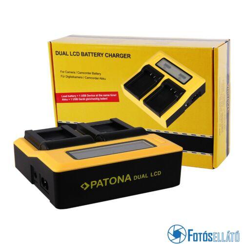 Patona DUPLA LCD USB AKKUMULÁTOR TÖLTŐ SONY NP-FM50 VW-VBD1 BN-V607U