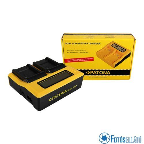 Patona DUPLA LCD USB AKKUMULÁTOR TÖLTŐ CANON NB-8L POWERSHOT A2200 A3000 IS A3000IS A3100 IS A3100IS