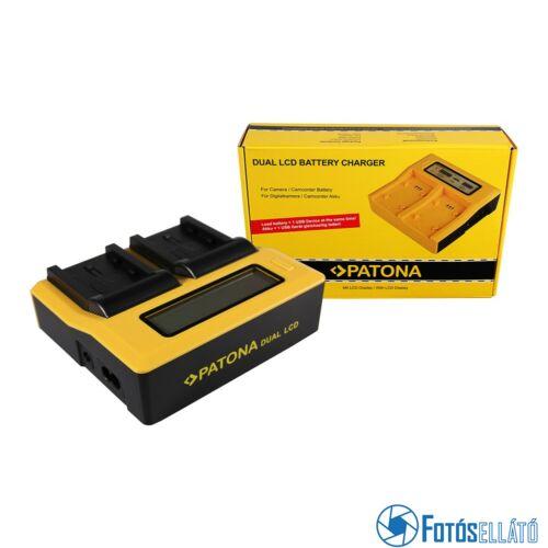 Patona DUPLA LCD USB AKKUMULÁTOR TÖLTŐ SAMSUNG IA-BP210E HMX HMXH203 HMX-H203 IA-BP210E SMX SMXF40