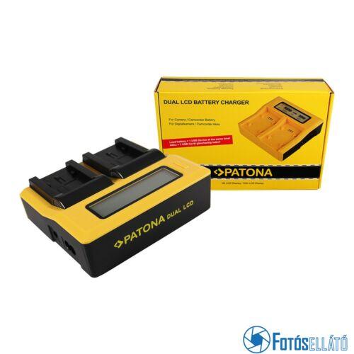 Patona DUPLA LCD USB AKKUMULÁTOR TÖLTŐ PANASONIC VW-VBK180 H H100 H101 H95 VW-VBK180 HC HCV700 HC-V700