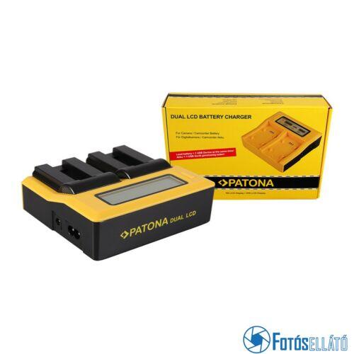 Patona DUPLA LCD USB AKKUMULÁTOR TÖLTŐ CANON NB-9L DIGITAL IXUS 1000 1000HS 1100HS 500 HS 510HS NB-9L