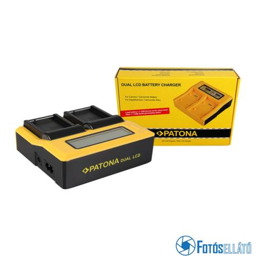 Patona DUPLA LCD USB AKKUMULÁTOR TÖLTŐ PANASONIC BLC12 BLC12PP DMWBLC12 E DMW-BLC12 E