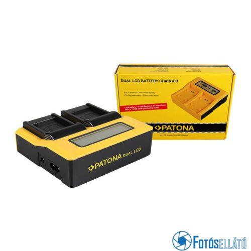 Patona DUPLA LCD USB AKKUMULÁTOR TÖLTŐ PANASONIC DMW-BLE9 DMW-BLE9E LUMIX DMC-GF3 DMC-S6K
