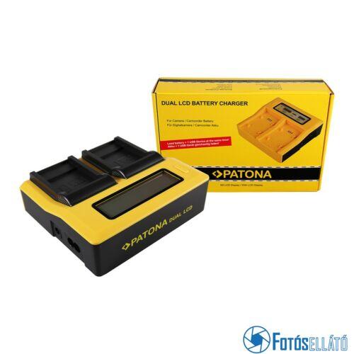 Patona DUPLA LCD USB AKKUMULÁTOR TÖLTŐ SANYO DB-L40A L20A XACTI DMXC1 DMX-C1 DMXCA65 DMX-CA65 DSCC4