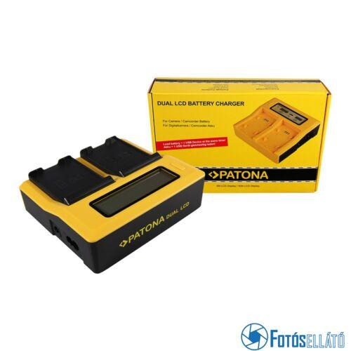 Patona DUPLA LCD USB AKKUMULÁTOR TÖLTŐ SAMSUNG EB-F1A2GBU I519 I569 I579 I8150 I8150 W I9050 I9100