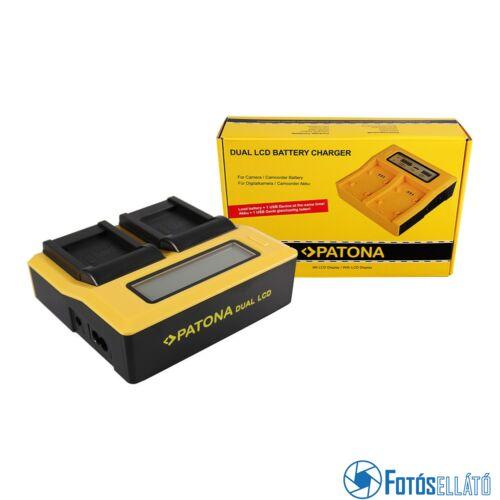 Patona DUPLA LCD USB AKKUMULÁTOR TÖLTŐ PANASONIC DMW-BCM13 LUMIX DMCFT5 DMC-FT5 DMCFT51 DMCTS5 DMC-TS5