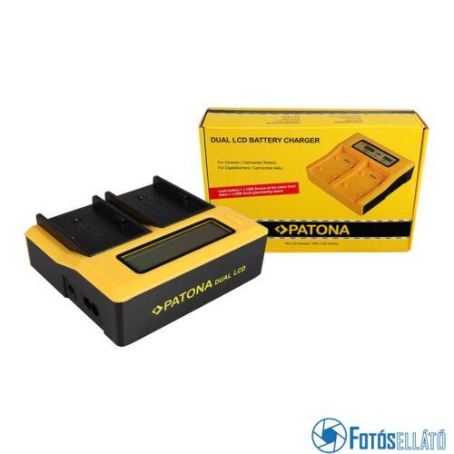 Patona DUPLA LCD USB AKKUMULÁTOR TÖLTŐ SONY BP-U30 BP-U60 BP-U90 BP-U95 BPU30 BPU60