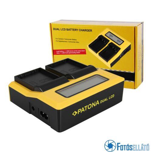 Patona DUPLA LCD USB AKKUMULÁTOR TÖLTŐ OLYMPUS BLH-1 OM-D EM-1 MARK 2 EM-1 MARK II