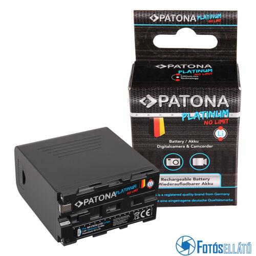 PATONA platina akku Sony NP-F970 F960 F950 LCD-vel, Powerbank 5V / 2A USB