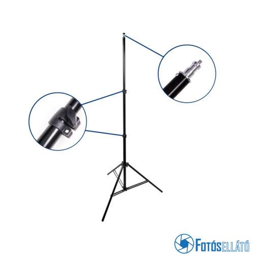 P&V lámpatartó állvány, vakuállvány 72-230cm, spigot fej