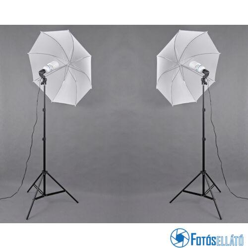 P&V Folyamatos fényű fotó izzós dupla szett - 2x 125W/600W(5500K)