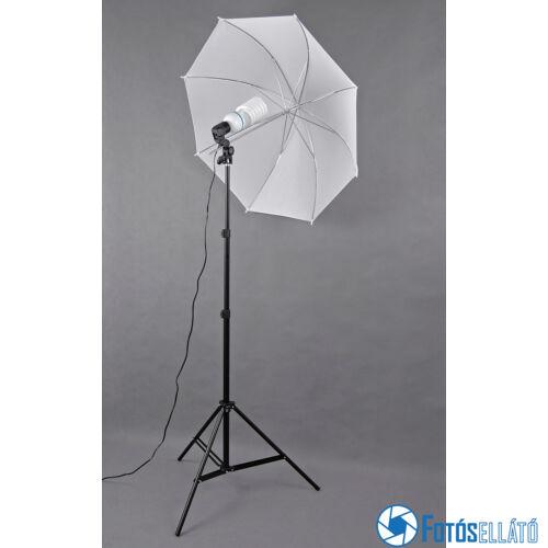 P&V Folyamatos fényű fotó izzós ernyős szett - 125W/600W (5500K)
