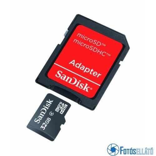 Sandisk 32 gb microsdhc™  memóriakártya + adapter, class 4