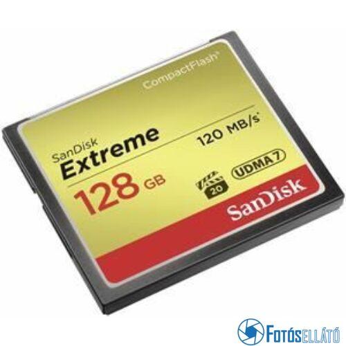 Sandisk 128 gb extreme compactflash™ memóriakártya (120 mb/s olvasási - 85 mb/s írási sebesség)