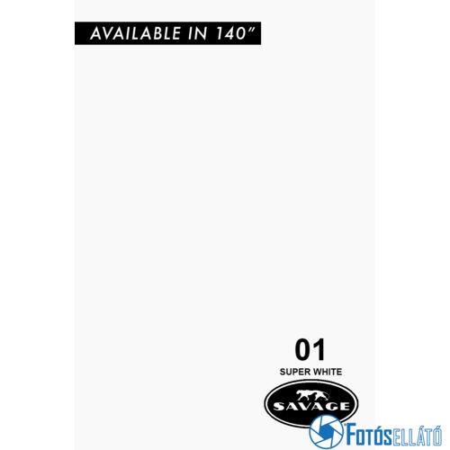 Savage Papírháttér 2.18m x 11m (01 super white)