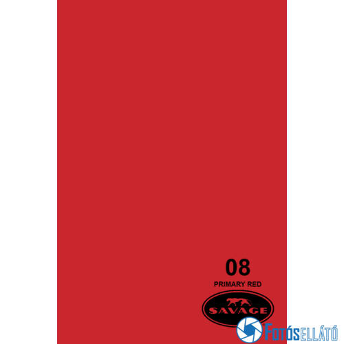 Savage Papírháttér 2.18m x 11m (08 primary red)