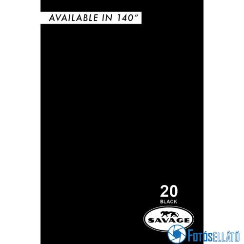 Savage Papírháttér 1.35m x 11m (20 black )