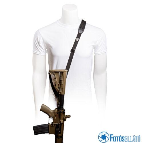 BlackRapid Cross Shot FA Black Rifle Sling with Swivel Locking Carabiner (Single Point)