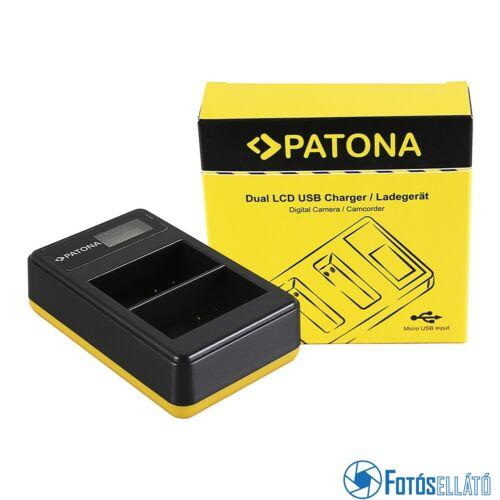 Patona DUPLA LCD USB AKKUMULÁTOR TÖLTŐ NIKON EN-EL15 D600 D610 D7000 D7100 D800 D8000 D800E D810