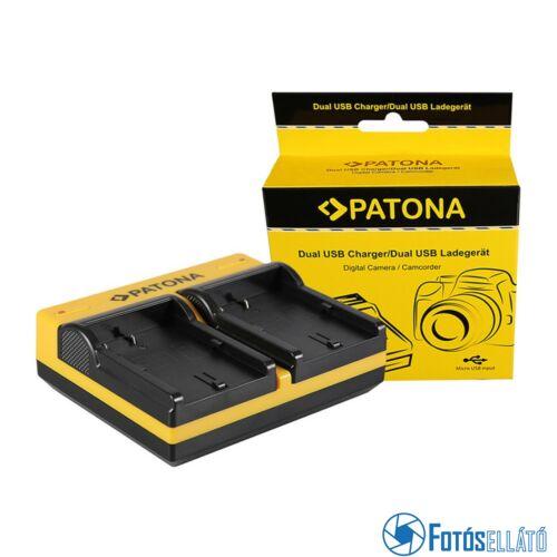 Patona DUPLA AKKUMULÁTOR TÖLTŐ CANON BP-511 EOS 650 10D 20D 20DA 300D 300D 40D CMV500 D30 MICRO-USB KÁBELLEL