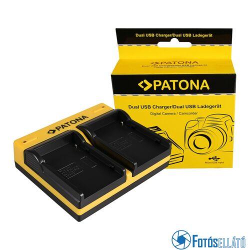 Patona DUPLA AKKUMULÁTOR TÖLTŐ CANON BP-915 EOS C300 C300 PL BP-915 HA HA H1S BP-915 POWERSHOTMICRO-USB KÁBELLEL