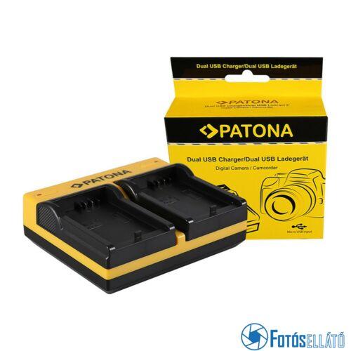 Patona DUPLA AKKUMULÁTOR TÖLTŐ CANON LP-E5 EOS 1000D 450D 500D MICRO-USB KÁBELLEL