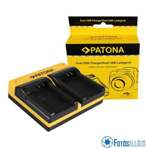 Patona DUPLA AKKUMULÁTOR TÖLTŐ EN-EL12 COOLPIX AW100 AW110 P300 P310 P330 S1000PJMICRO-USB KÁBELLEL