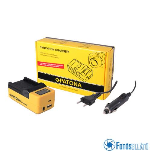 Patona Panasonic BLB13 DMWBLB13 LCD Szinkron USB akkumulátor töltő