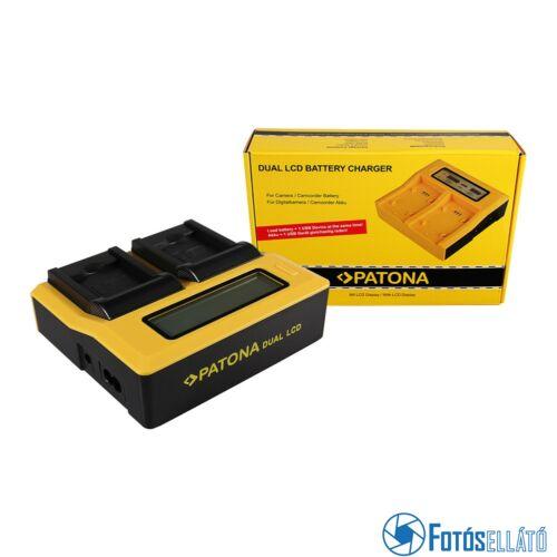 Patona DUPLA LCD USB AKKUMULÁTOR TÖLTŐ SAMSUNG BP-88A DV200 DV300