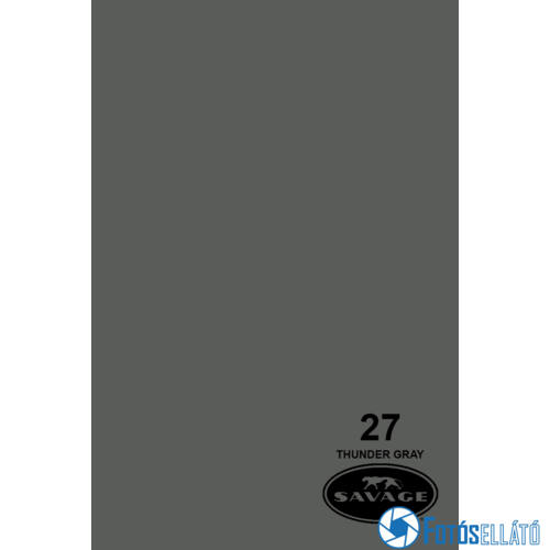 Savage Papírháttér 1.35m x 11m (27 thunder gray)